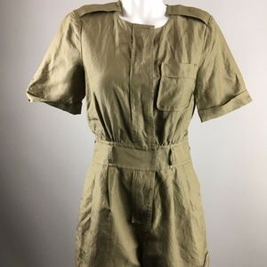 Marc By Marc Jacobs Olive Green Button Romper